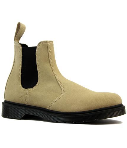 dr martens 2976 retro mod suede chelsea boots sand