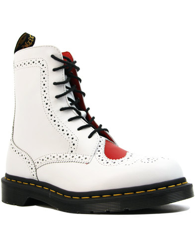 dr martens bentley ii heart retro mod brogue boots
