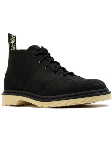 dr martens church suede 70s mod monkey boots black