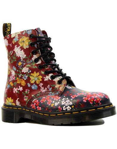 dr martens pascal fc multi floral retro mod boots