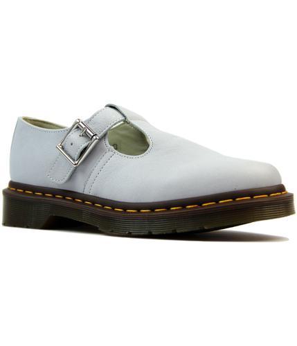 dr martens polley retro 1960s mod t bar shoes blue