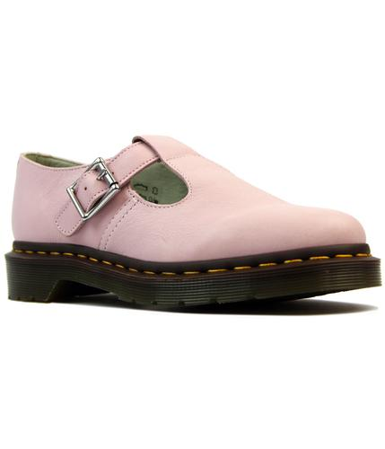dr martens polley retro 1960s mod t bar shoes pink