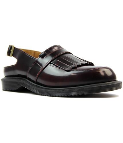 dr martens valentine mod sling back tassel loafers