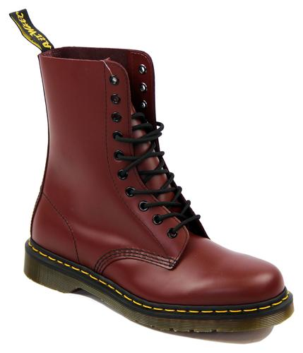 DR MARTEN BOOTS 10 EYELET BOOTS CHERRY