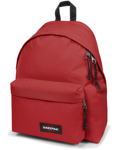 eastpak padded pak'd backpack raw red