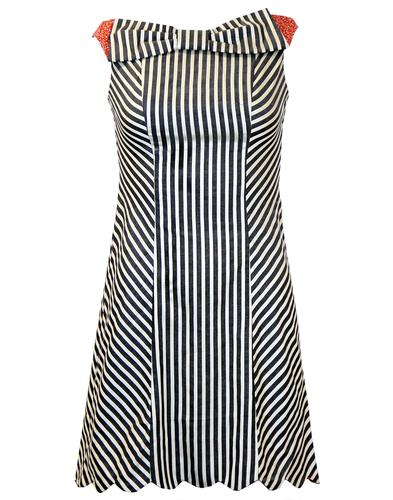 DAINTY JUNE BOW DRESS RETRO MOD VINTAGE DRESS
