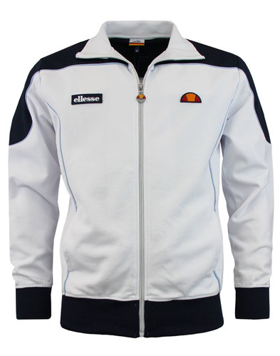 Bordoni ELLESSE Retro 80s Track Top Optic White