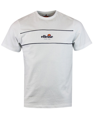 Cannavaro 70s Retro ELLESSE T-Shirt Optic White