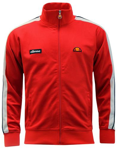 Cervino ELLESSE Retro 80s Track Top in True Red