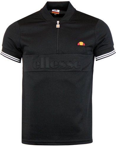 Fillippo ELLESSE Retro 70s Zip Neck Cycling Top A