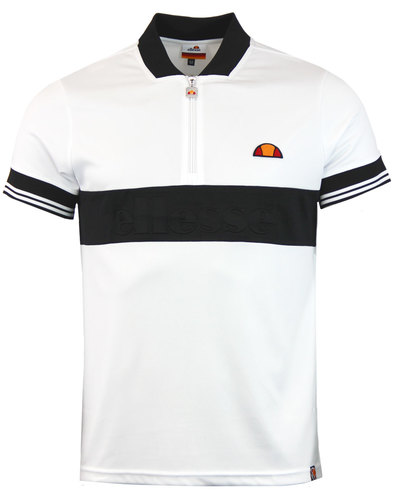 Fillippo ELLESSE Retro 70s Zip Neck Cycling Top W