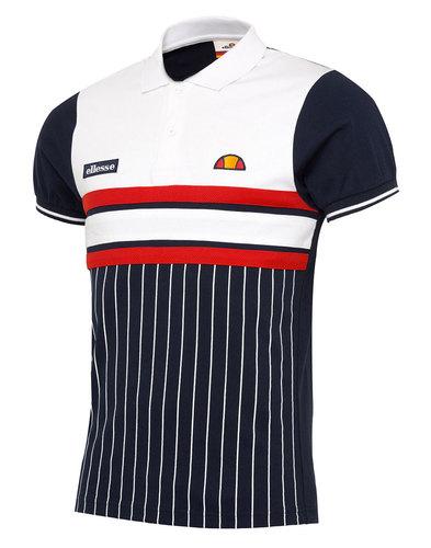 Ellesse Lorenzi Retro 70s pinstripe polo shirt