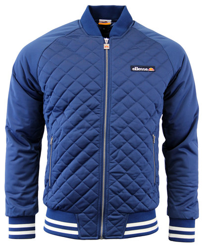 ELLESSE RETRO 70s LETTERMAN QUILTED JACKET