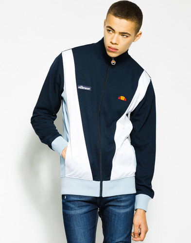 Vilas ELLESSE Retro 1980s Diagonal Panel Track Top