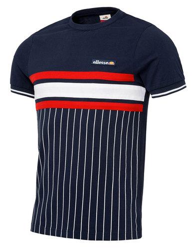 Ellesse Volandri Retro 70s Men's pinstripe T-Shirt