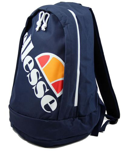 ELLESSE RETRO 70s 80s RUCKSACK BACKPACK BAG NAVY