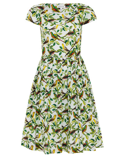 Emily and Fin Retro Parakeets Claudia Dress