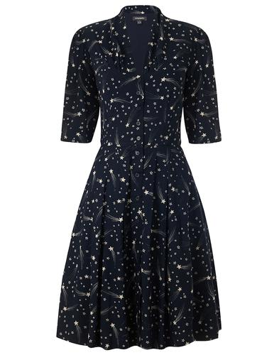 EMILY AND FIN RETRO 50s ROSE SHOOTING STARS DRESS