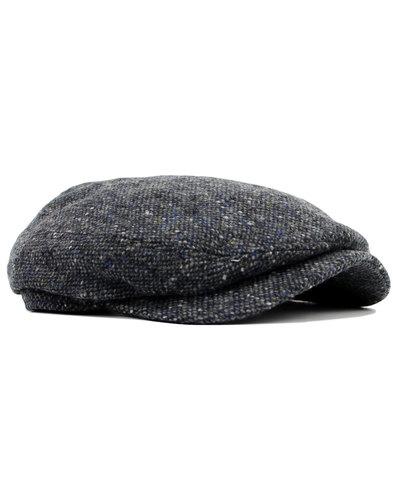 failsworth retro mod blue fleck donegal gatsby cap