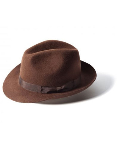 'Doherty' - Indie Trilby Hat (Dark Brown)