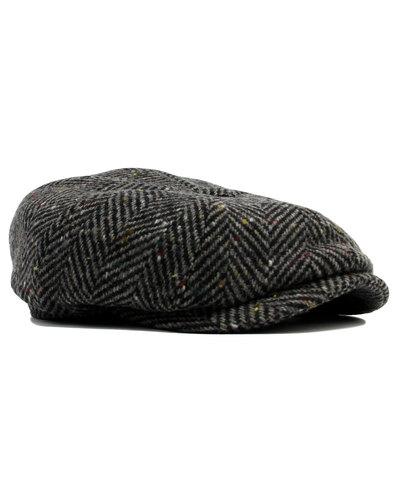 failsworth retro mod herringbone tweed gatsby cap
