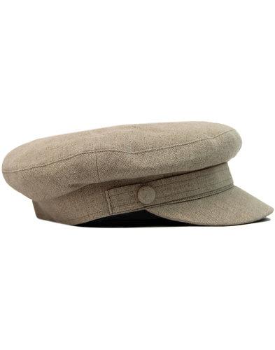 FAILSWORTH 60s Mod Irish Linen Beatle Hat BISCUIT