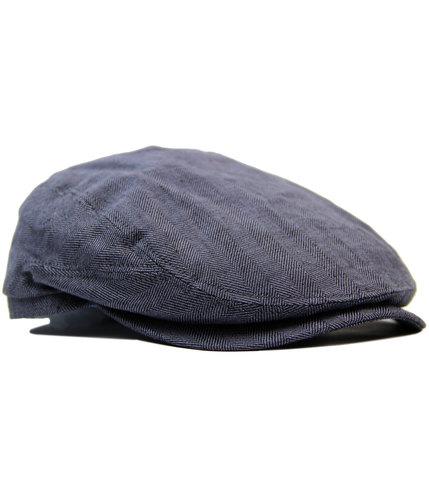failsworth irish linen retro mod duckbill flat cap