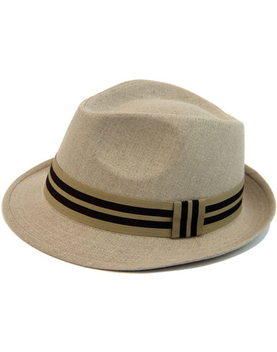 FAILSWORTH Men's Retro Mod Irish Linen Trilby Hat