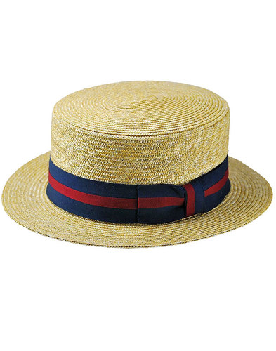 FAILSWORTH Men's Retro Oxford Straw Boater Hat
