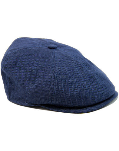 FAILSWORTH Silk Mix Herringbone 6 Piece Gatsby Cap