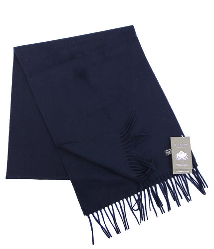 Failsworth Retro Lambswool Scarf Navy