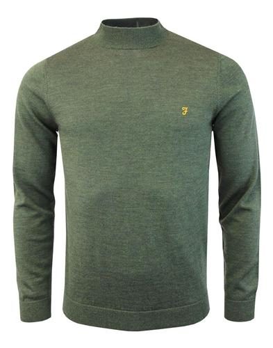 Bevington FARAH 60s Mod Merino Turtleneck Jumper