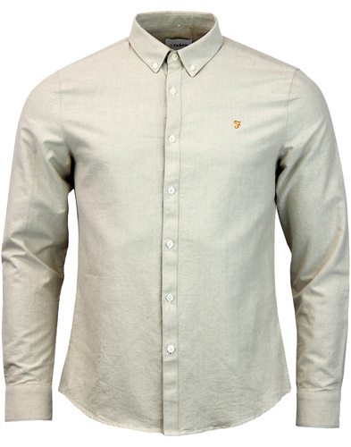 farah brewer oxford shirt almond