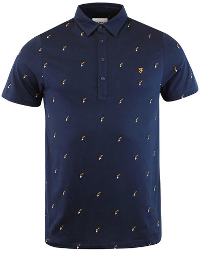 Foliot FARAH Retro Mod Abstract Geo Print Polo (Y)