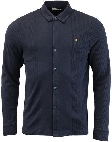Heathstan FARAH Retro Mod Texture Jersey Shirt