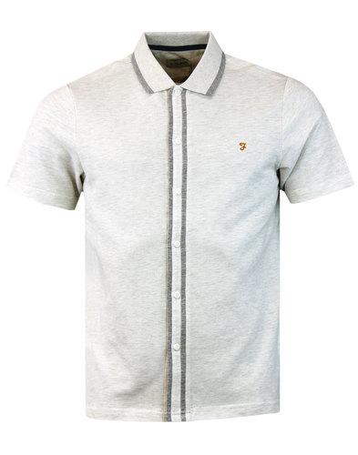 Homerton FARAH Mod Tipped Short Sleeve Pique Shirt