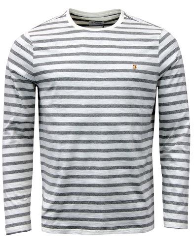 farah lennox retro 1960s mod stripe t-shirt ecru