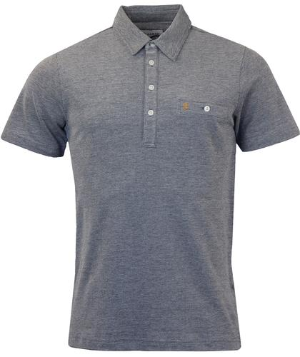 FARAH TENNYSON RETRO MOD MARL POCKET POLO NAVY