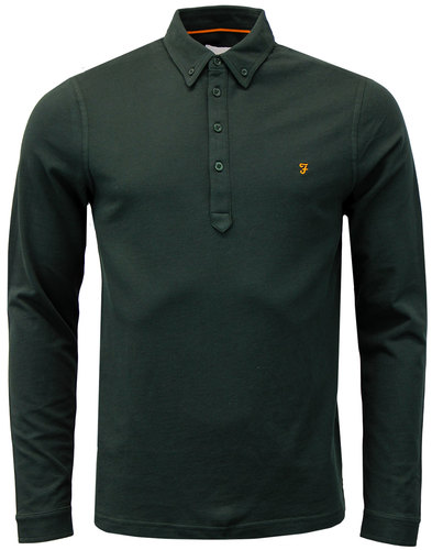 farah merriweather mod button down polo avacado
