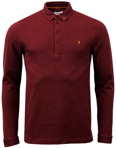 farah merriweather mod button down polo currant