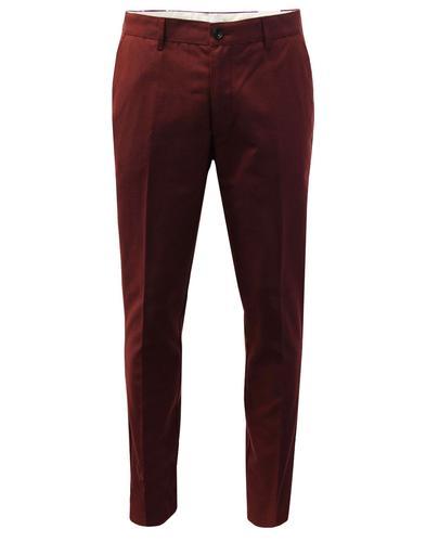 Elm FARAH Men's 60s Mod Slim Hopsack Trousers (FR)