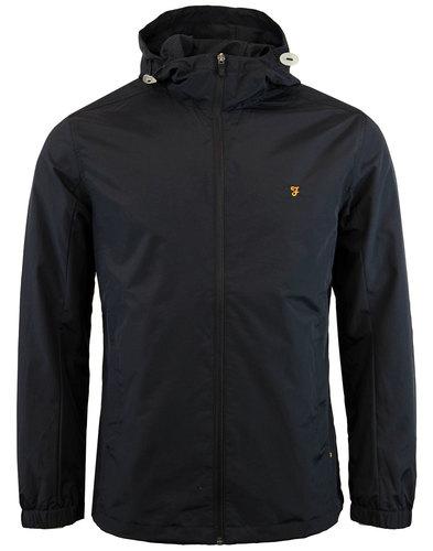 farah newbern retro 70s indie hooded jacket black
