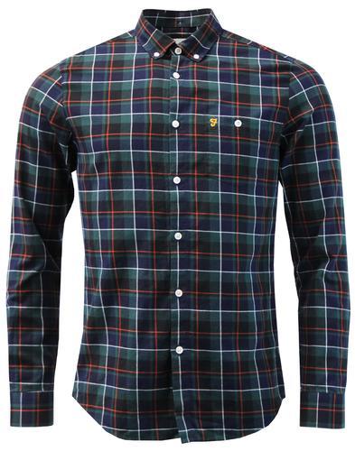 Oldman FARAH 60s Mod Button Down Check Twill Shirt