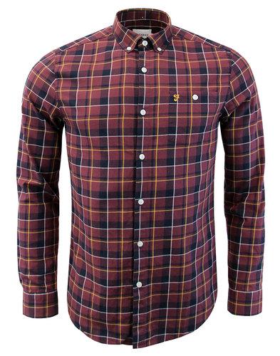 Oldman FARAH 60s Twill Check Button Down Shirt