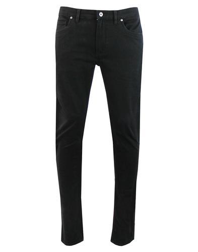 Drake FARAH Mod Slim Stretch Twill Trousers BLACK