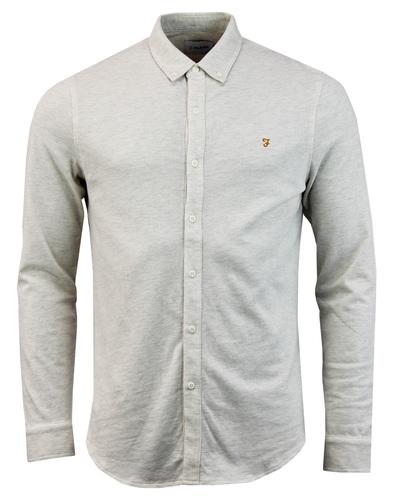 Wetshire FARAH 60s Mod Button Down Pique Shirt (C)