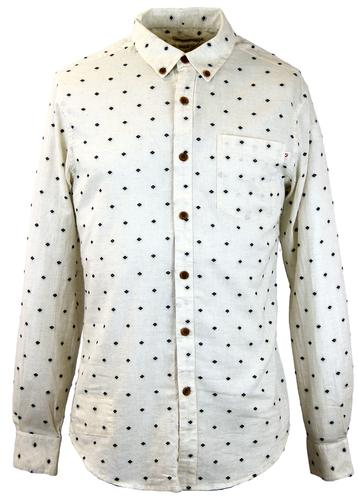 FARAH 1920 RETRO 70S DIAMOND DOBBY BEWLEY SHIRT