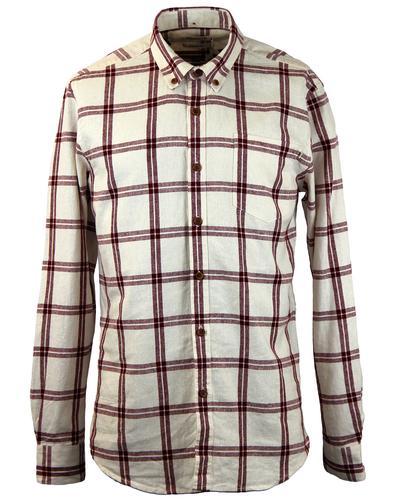 FARAH 1920 Gwenn Retro Mod Linen Check Shirt (E)