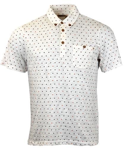 FARAH 1920 RETRO 70S OP ART TRIANGLE POLO