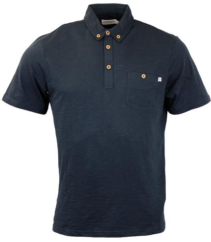 FARAH 1920 RETRO MOD 70S SLUB POLO SHIRT